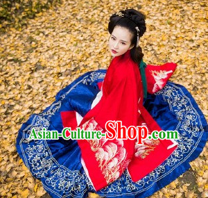 Traditional Chinese Ancient Ming Dynasty Princess Clothing Garments Suits Dresses Complete Set for Women