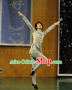 Chinese Classic Dance Costume Folk Dancing Costumes Traditional Chinese Dance Costumes Asian Dancewear Complete Set for Men Boys