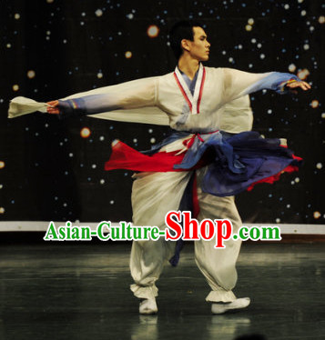 Korean Classic Mongolian Dance Costume Folk Dancing Costumes Traditional Chinese Dance Costumes Asian Dancewear Complete Set for Men Boys