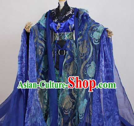 Ancient Chinese Style Emperor King Garment Costumes Clothing for Men Boys