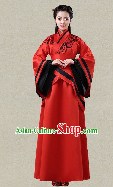 Hanfu Clothing Custom Traditional Han Dynasty Chinese Hanfu Dreses Han Clothing Hanzhuang Historical Dress and Accessories Complete Set