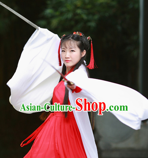 Han Dynasty Women Han Fu_Hanfu Gongfu Clothing Hanzhuang Historical Dress Historical Clothing and Accessories Complete Set for Women