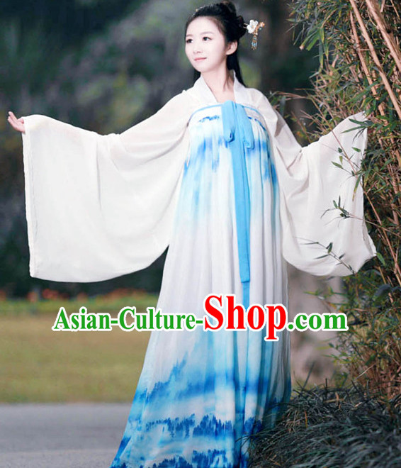 Ancient Asian Dynasty Women Han Fu_Hanfu Clothing Hanzhuang Historical Dress Historical Clothing and Accessories Complete Set for Women