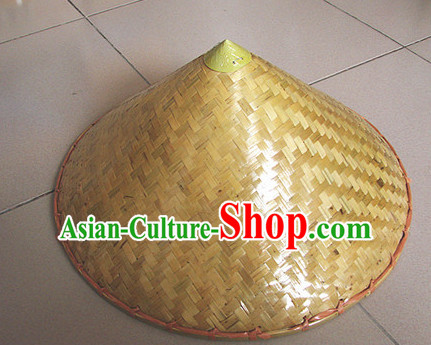 Original Traditional Chinese Dance Bamboo Hat for Adults and Children