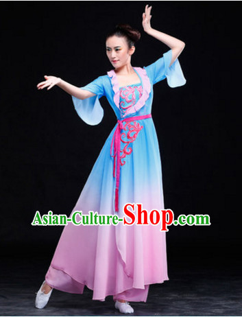 Chinese Classical Gradient Dancing Skirt for Women and Girls