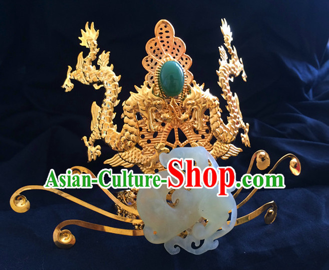Chinese Ancient Style Prince Headpieces Hair Jewelry Coronet for Men