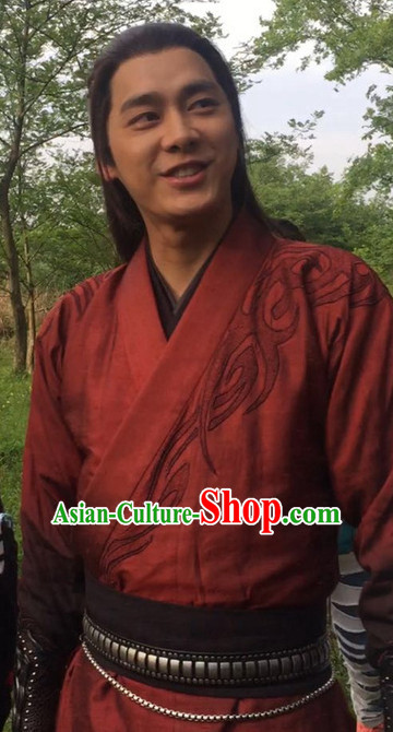 Chinese Traditional Dress Hanfu Costume China Kimono Robe Ancient Chinese Clothing National Costumes Gown Wear for Men