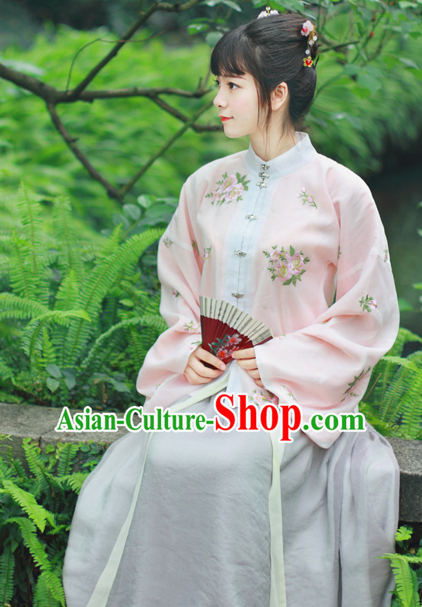 Chinese Traditional Dress Hanfu Costume China Kimono Robe Ancient Chinese Clothing National Costumes Gown Wear for Women Girls