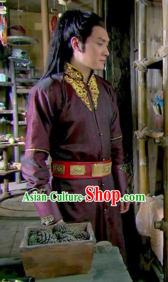Chinese Traditional Lanling King Dress Hanfu Costume China Kimono Robe Ancient Chinese Clothing National Costumes Gown Wear for Men