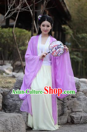 Ancient Chinese Drama Scene Hanfu Clothing Complete Set for Women