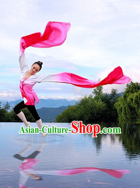 Traditional Chinese Water Sleeve Color Gradient Classical Dance Costumes Complete Set for Women Girls