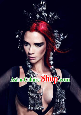 Custom Made Quene Crown Empress Hairpins Hair Accessories Hairstyle Chinese Oriental Hairstyles Headpieces Hat