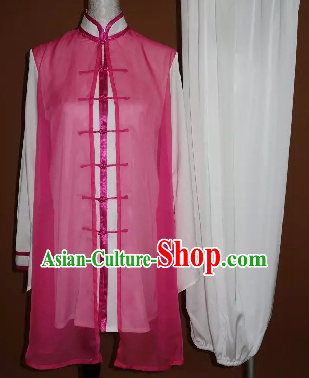 Top Gold Asian Championship Kung Fu Martial Arts Uniform Suit for Women Men