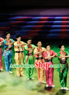Chinese Folk Group Dance Costumes for Men