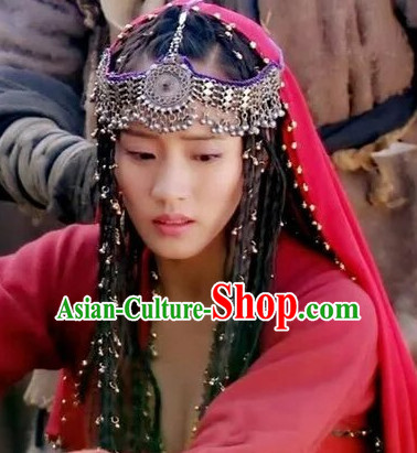 Chinese Traditional Ethnic Princess Headpieces