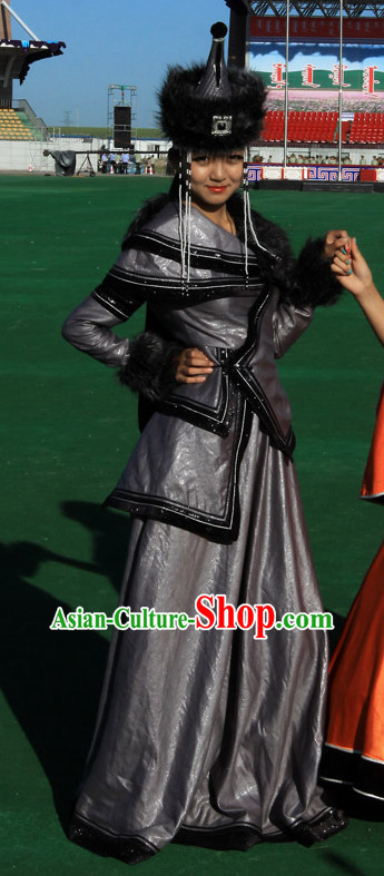 Ancient Mongolian Clothing Traditional Mongolian Clothing Folk Empress Garment for Women
