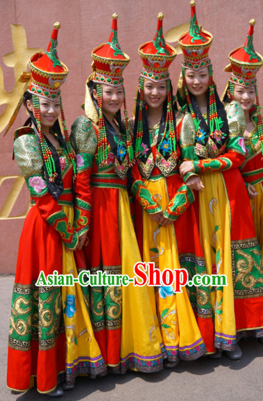 Traditional Mongolian Clothing Traditional Mongolian Clothing Folk Dance Costumes for Women