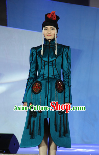 Traditional Mongolian Clothing Traditional Mongolian Clothing Folk Garment for Women