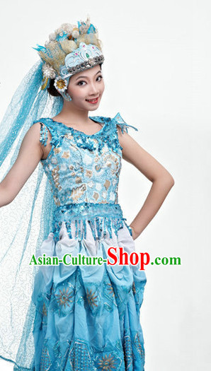 Traditional Chinese Classical Dance Costumes for Girls