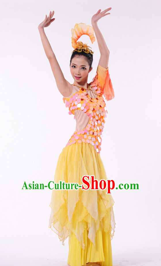 Traditional Chinese Dance Costumes for Girls