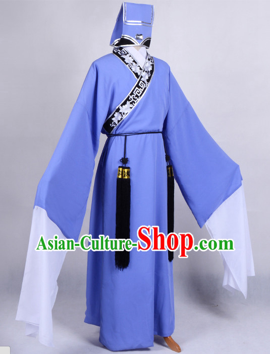 Chinese Opera Costumes Huangmei Opera Stage Performance Costume Chinese Traditional Costume Drama Costumes Complete Set for Men