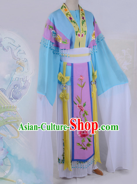 Chinese Opera Costumes Huangmei Opera Stage Performance Costume Chinese Traditional Water Sleeve Costume Drama Costumes Complete Set