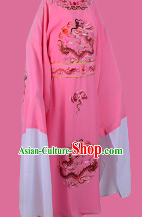 Chinese Opera Costumes Huangmei Opera Stage Performance Costume Chinese Traditional Dragon Robe Costume Drama Costumes and Hat Complete Set