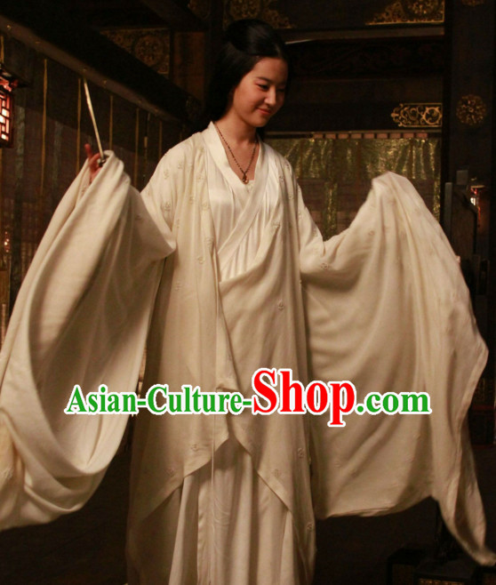 Ancient Chinese Empress White Hanfu Han Fu Clothing Complete Set for Women
