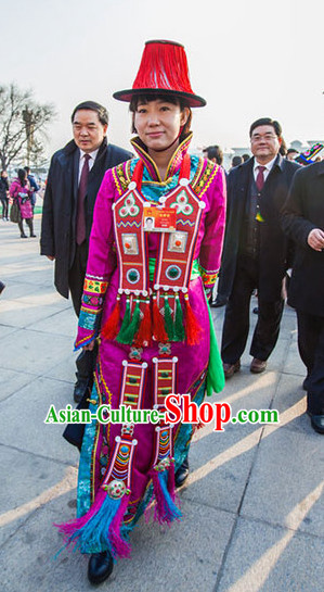 Chinese Traditional Ethnic National Costumes Complete Set