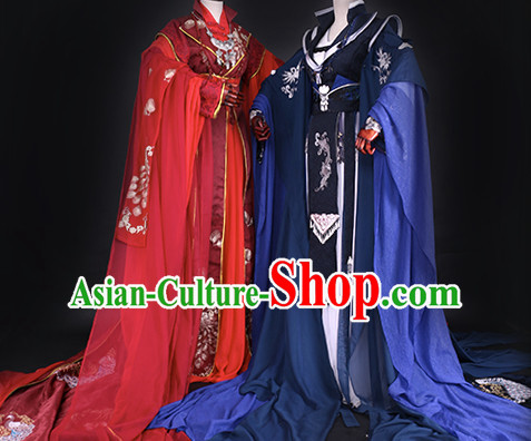 Ancient Chinese Queen Clothing Traditional Chinese Princess Clothes Dresses Tangzhuang Empress Wedding Han Fu Complete Set for Women