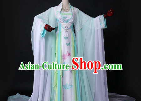 Ancient Chinese Fairy Clothing Traditional Chinese Princess Clothes Dresses Tangzhuang Han Fu Complete Set for Women
