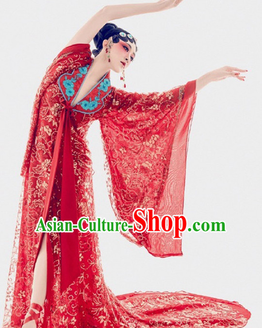 Chinese Opera Women's Clothing _ Apparel Chinese Traditional Dress Theater and Reenactment Costumes and Headwear Complete Set