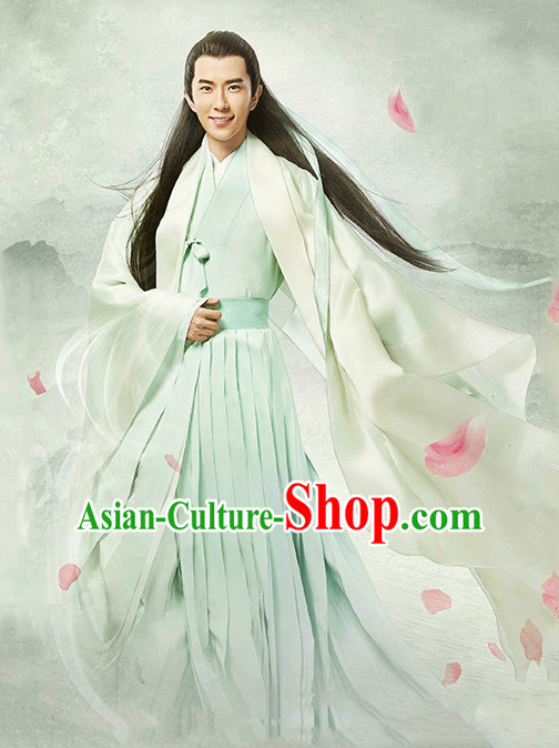 Chinese Men's Clothing _ Apparel Chinese Traditional Dress Theater and Reenactment Costumes and Headwear Complete Set