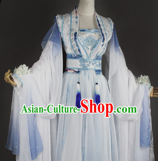 Chinese Women Traditional Royal Fairy Dress Cheongsam Ancient Chinese Princess Clothing Cultural Robes Complete Set
