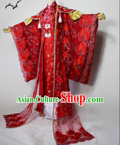 Chinese Men Traditional Royal Emperor Dress Cheongsam Ancient Chinese Imperial Clothing Cultural Robes Complete Set