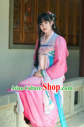 Chinese Women Traditional Beauty Dress Cheongsam Ancient Chinese Hot Clothing Cultural Robes Complete Set