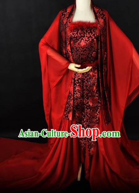 Chinese Traditional Hanfu Queen Cosplay Costume Chinese Cosplay Hanfu Halloween Costume Party Costume Fancy Dress