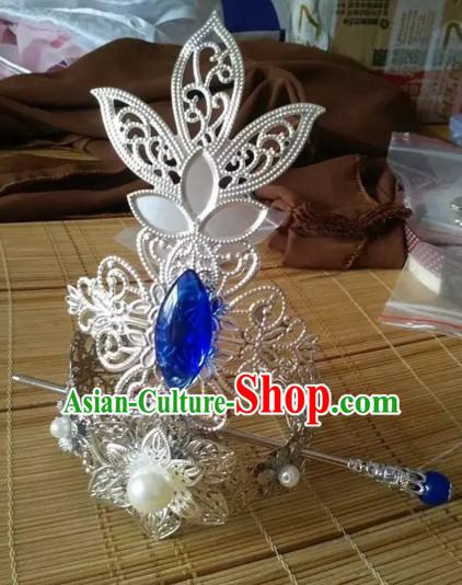 Ancient Chinese Emperor Hair Jewelry Prince Headpieces Hair Decorations Imperial Coronet