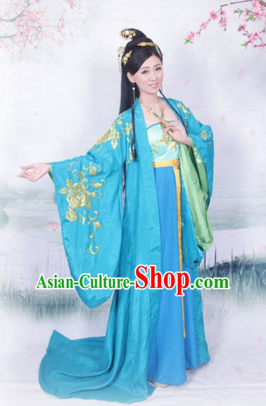 Ancient Chinese Princess Embroidered Costumes Complete Set for Women