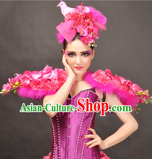 Giant Feather Wings Stage Costumes Theater Costumes Professional Theater Costume for Women
