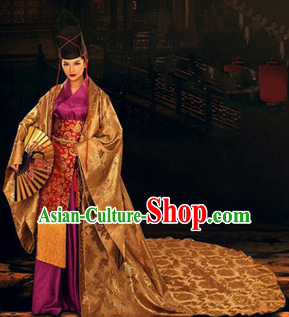 Top Chinese Ancient Men and Women's Clothing _ Apparel Chinese Traditional Dress Theater and Reenactment Robes Complete Set