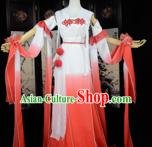 White Chinese High Quality Cosplay Fairy Princess Goddness Costume Cosplay Costumes Complete Set for Women Girls Children Adults