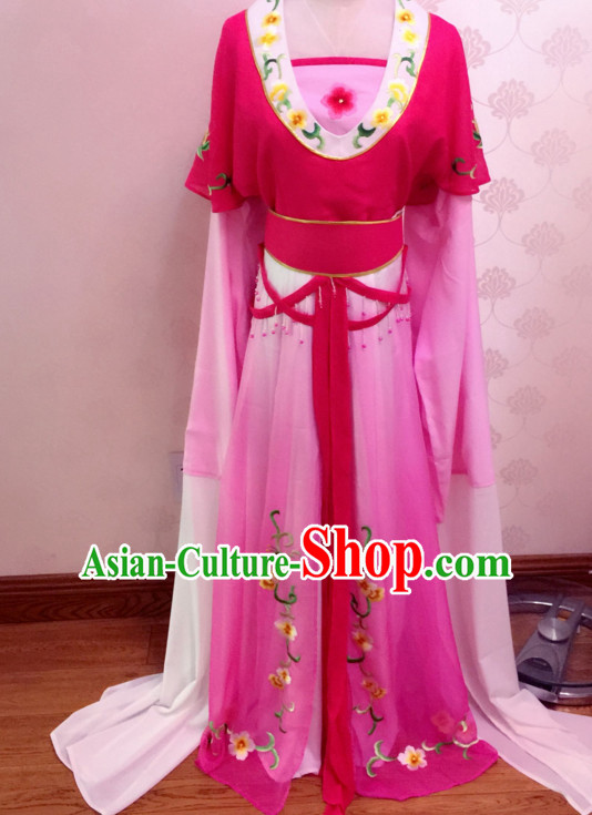 Chinese Yue Opera Costumes Huang Mei Opera Costume Complete Set for Women