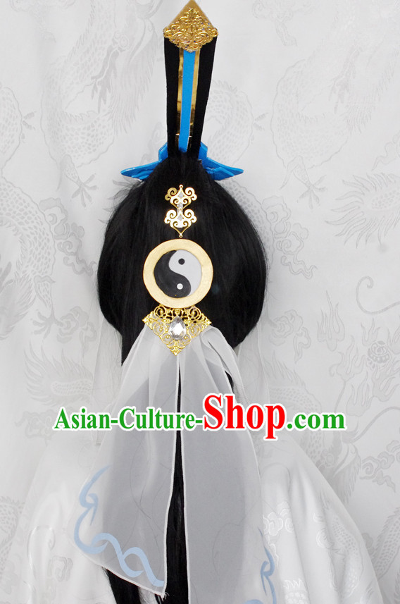 Top Chinese Traditional Cosplay Suphero Supheroine Classical Taoist Headwear Hat