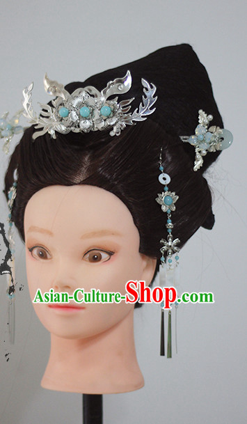 Chinese Ancient Princess Queen Handmade Wig and Hair Accessories Set