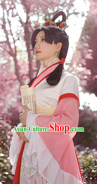 Cosplay Hanfu Hanzhuang Han Fu Han Clothing Traditional Chinese Dress National Costume Complete Set