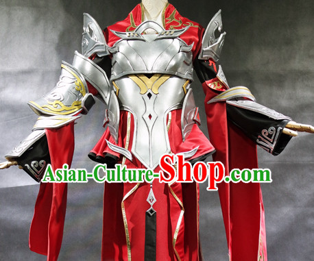 Ancient Chinese Style Halloween Superhero Armor Costumes Costume Complete Set for Women