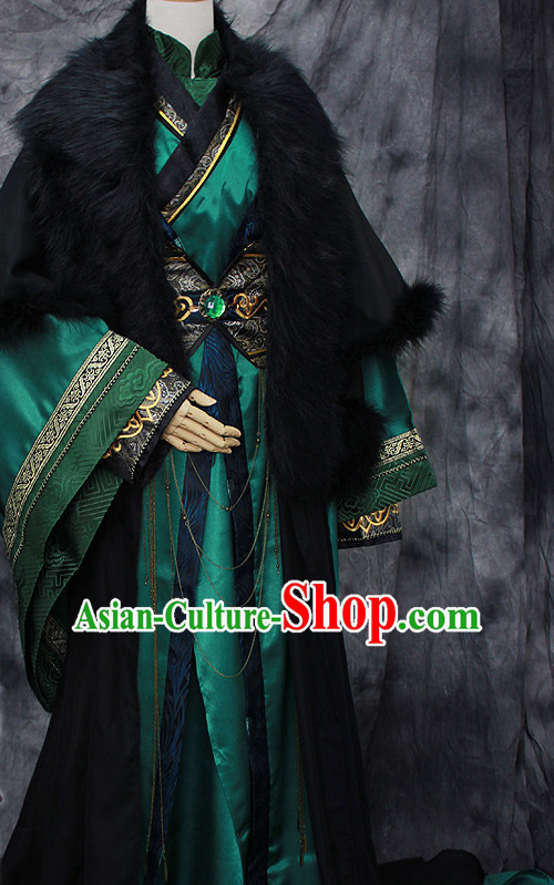 Chinese Classical Prince Royal Hanfu Han Fu Clothes Complete Set for Men