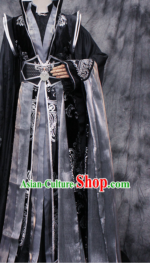 Ancient Chinese Imperial Emperor Hanfu Han Fu Clothes Complete Set for Men