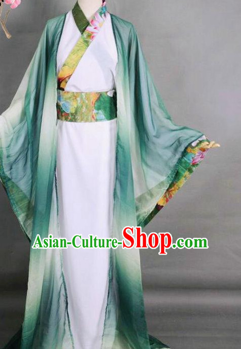Top Chinese Ancient Costumes Theater and Reenactment Costumes Complete Set for Men
